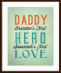Cute Father's Day gift customized with kids names.