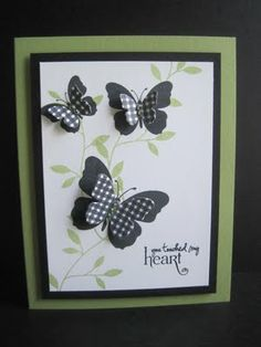Love the look of layering die cuts over the stamped butterfly!