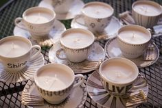 DIY Tea Cup Candles  #sorority #bigsis #littlesis