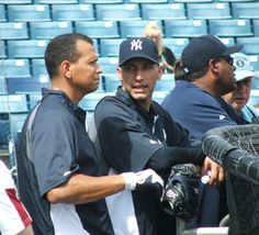 NY Yankees - Alex Rodriguez and Andy Pettitte.