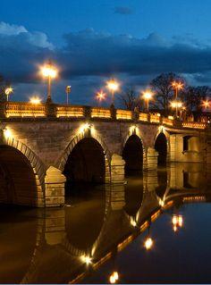 Worcester Bridge Reflected by flash of light, via Flickr