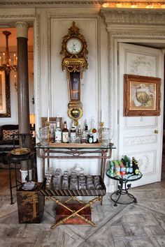 gracious bar in the study