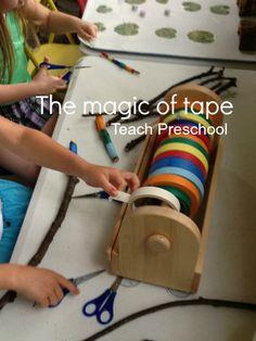 The magic of tape by Teach Preschool