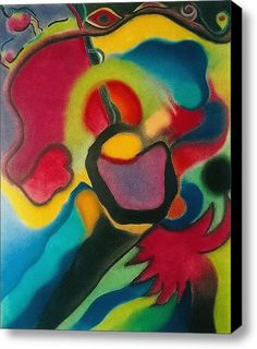 Red Blue Yellow Stretched Canvas Print / Canvas Art By Christine Perry