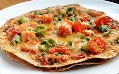 Mexican Tortilla Pizza--SO good & SO easy!!!  Just like Taco Bell.