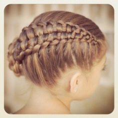 Hair | How to; Zipper Braid Updo.  Video Tutorial from Cute Girls Hairstyles! I love this braid!