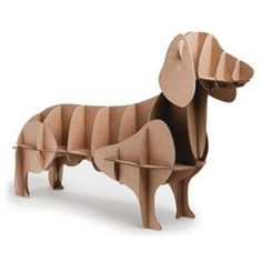 Cardboard Dachshund Shelf