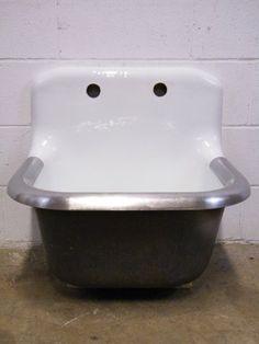 Columbus Architectural Salvage - Cast Iron Utility Sink industri salvag, architectural salvage, space idea, studio space, iron stuff, bathroom tub, hous idea, heavi metal, cast iron