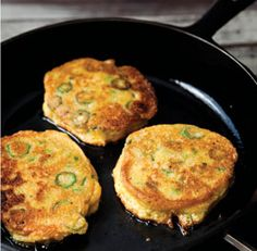 Okra Cornmeal Cakes via @studyny