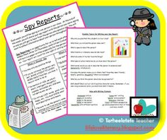 "I JUST MADE THIS RESOURCE FREE ON TPT and IT WILL STAY FREE...download now and take time to have your students share kindness and celebrate one another with their words...Turn your students into spy reporters--alternative to ""Star of the Week"" (instead of one student getting accolades, each student gets appreciation each week)"
