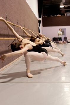 at the barre, ballet