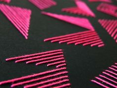 pink stripe alphabet - Nina Gregier - proste kreski - graphic design & art direction