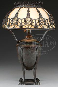 TIFFANY STUDIOS MOORISH TABLE LAMP.