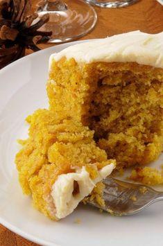 Pumpkin Buttermilk Cake & Cream Cheese Frosting | fall dessert