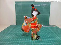O QUE É MEU É NOSSO: Ningyogami - Boneca Japonesa - Japanese Paper Doll - 2 ***