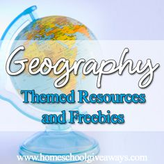 BIG list of Geography Themed Resources and Freebies