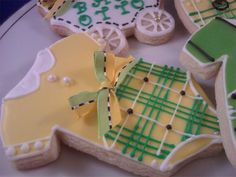 Non-Traditional Baby Shower Colors Cookie Favors