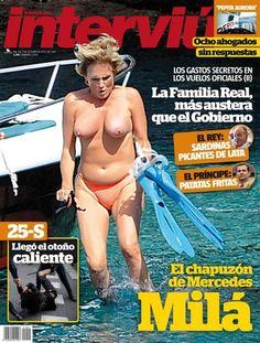 Mercedes Milá, pillada semidesnuda en la portada de la revista Interviú