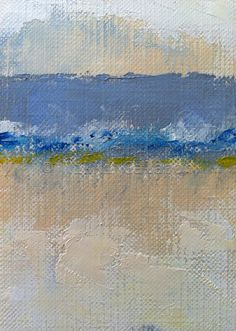 Abstract Landscape Modern Art , 4x6 PRINT of original oil painting. $12.00, via Etsy.