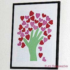 handprint heart tree craft...