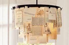 postcard chandelier