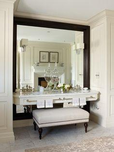 Make up vanity. interior, dream, bathroom vanities, makeup tabl, framed mirrors, wall mirrors, bathrooms, vanity area, bedroom