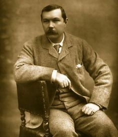 Sir Arthur Conan Doyle (physician & author of Sherlock Holmes), 1893, photographed by Herbert Rose Barraud, United Kingdom