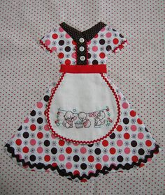 Apron quilt block - so cute