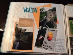 Used the same boarder for each day of the vacation. Vintage chic, #scrapbooking