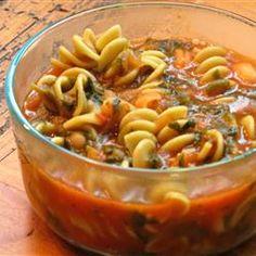 Pasta Fagioli - good recipe for the Mediterranean Diet