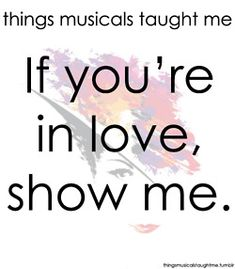 Another fave line from another fave musical
