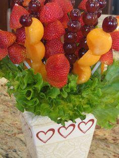 Valentines Day Fruit Bouquet