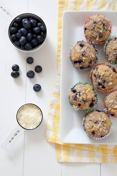 Lightened Up Lemon Blueberry Muffins | Annie's Eats by annieseats, via Flickr