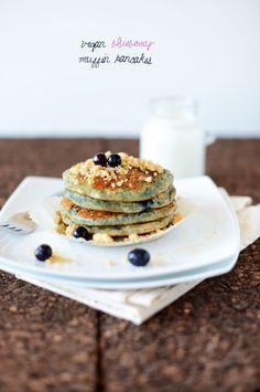 Vegan Blueberry Muffin Pancakes