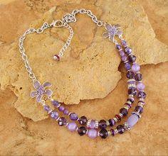 Retro Hollywood Jewelry Purple Statement Necklace by BohoStyleMe
