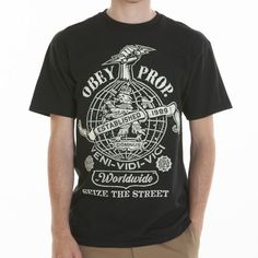 Obey Clothing Globe Fist T-Shirt More