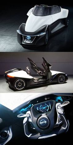 Nissan has released photos and video of the Bladeglider, an electric car with a very strange look: http://cnet.co/HNP8Qn