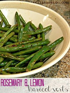I will serve these on Erev Rosh Hashanah, just substitute the butter for paerve marg.  The are delicious.  Rosemary & Lemon Fresh Green Bean Recipe