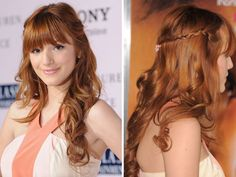 Bella Thorne's sweet 1/2 updo
