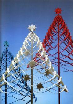 Christmas paper Christmas trees