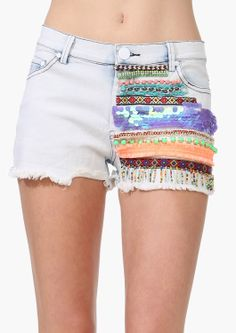 Sequin Denim Shorts | Shop for Sequin Denim Shorts Online