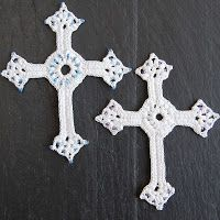 This pretty cross crochet pattern uses a small steel hook and cotton crochet thread. I am so in love with how ...