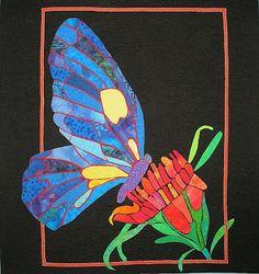 inspiration, franchesca butterfli, butterflies, art, quilt inspir, bysheril drummond, butterfli quilt, appliqu, juli 2012