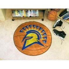 "San Jose State Spartans Basketball Rug 29"" Diameter"