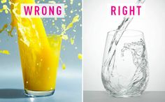 There are 22 grams of sugar in a standard eight-ounce glass of OJ. Your body needs hydration in the morning, not sugar.