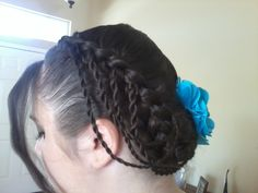 Renaissance Fest Hairstyle for my sis