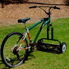 Genius! Lawn mower/bicycle