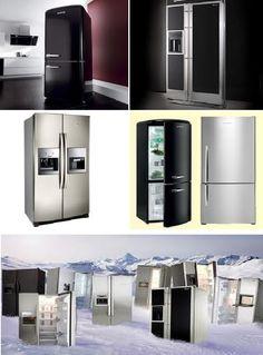 Modern energy saving fridge freezers.