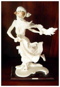 Giuseppe Armani Porcelain Figurine of Seasons Winter Lady Ice Skating.