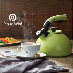 PIN TO WIN: Circulon® Morning Bird Teakettle, Kiwi Green {Giveaway Ends 9/28/14}